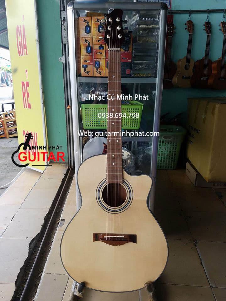 Dòng đàn guitar acoustic gỗ hồng đào, mặt gỗ thông chất lượng cao