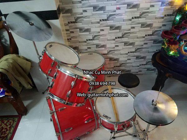 Bán dàn trống jazz lazer màu đỏ chất lượng giá rẻ tại tphcm