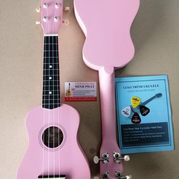 Mua đàn ukulele soprano màu hồng nhạt - hồng phấn tại cửa hàng nhạc cụ minh phát quận bình tân