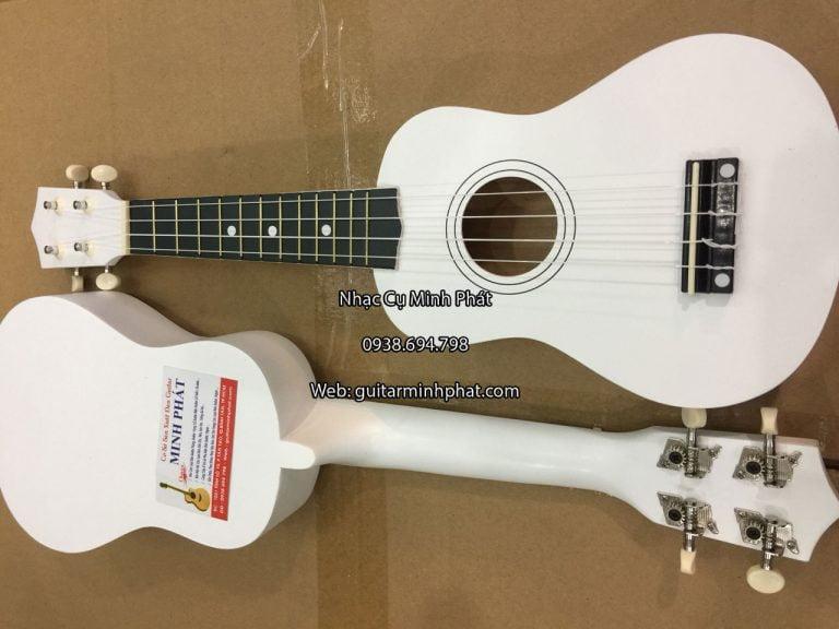 shop đàn ukulele giá rẻ tphcm - bán đàn ukulele soprano màu trắng giá rẻ