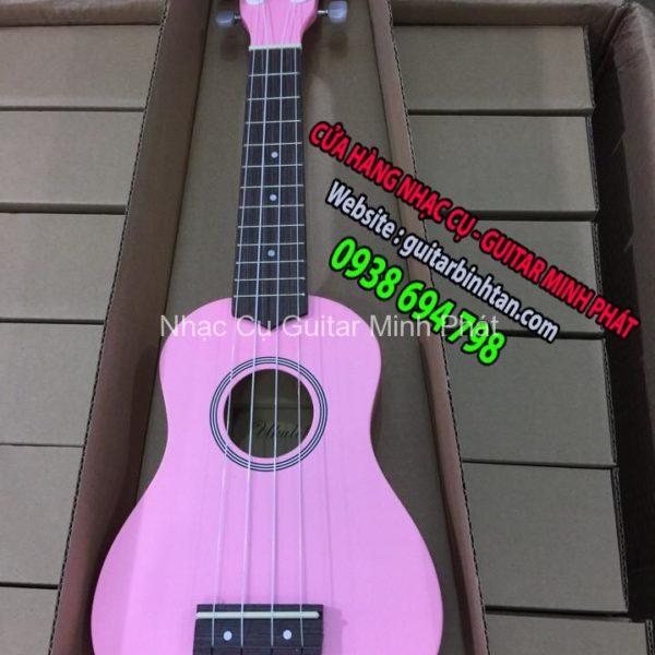 Đàn ukulele soprano màu hồng