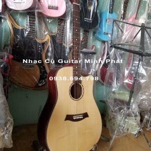 Guitar Acoustic Gỗ Điệp Dáng D Khuyết Giá Rẻ Sinh Viên