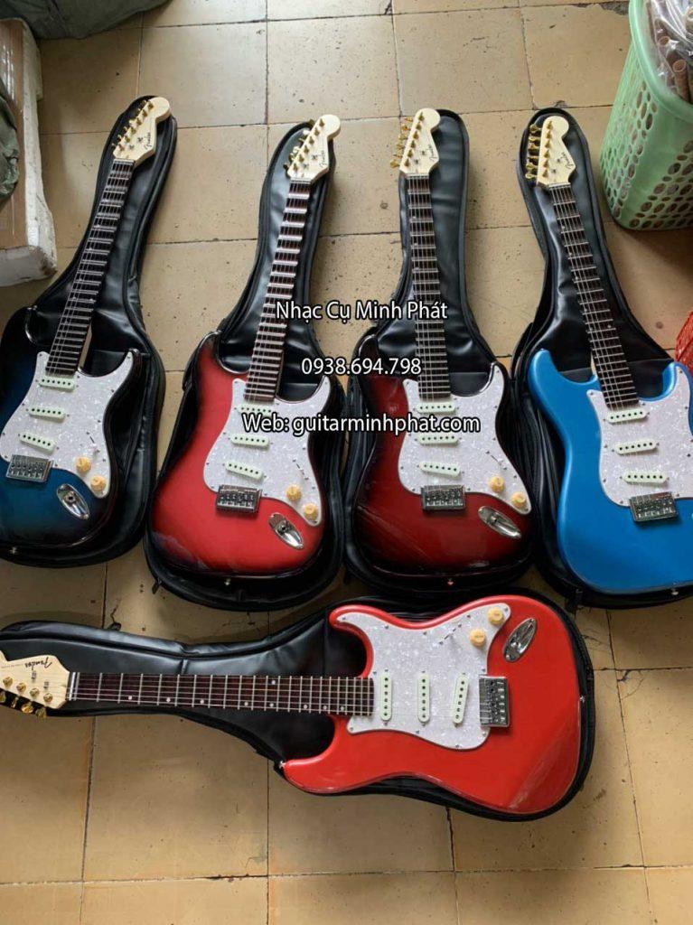 Bán đàn guitar điện fender phím lõm giá rẻ tphcm tặng kèm full phụ kiện bảo hành 12 tháng lỗi kỹ thuật