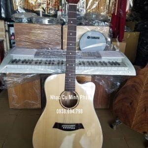 Đàn Guitar Gỗ Điệp Dáng D Khuyết hiện có tại shop nhạc cụ guitar Minh Phát tại tphcm, ship cod toàn quốc