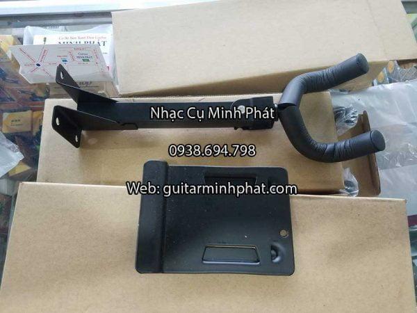 giá treo cho đàn Guitar - Có thể sử dụng cho đàn Guitar và Ukulele - Vỏ bọc ngoài tay treo bằng nhựa, giúp bảo vệ đàn