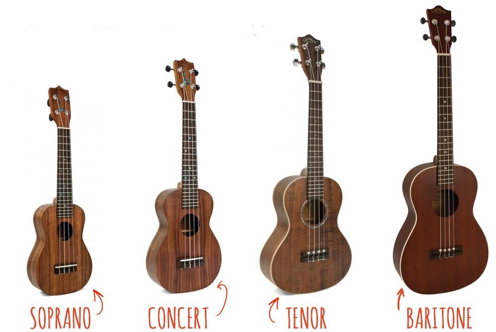 Phân biệt các kích cỡ đàn ukulele thường gặp trên thị trường