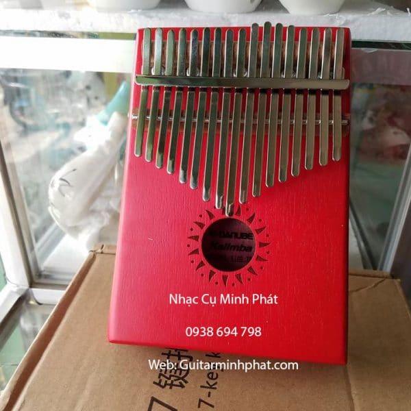 Đàn kalimba 17 phím giá rẻ mẫu màu đỏ