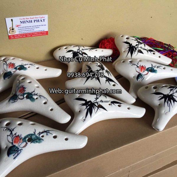 Shop kèn Ocarina 12 lỗ Tone AC sứ rạn giá rẻ tại TpHCM