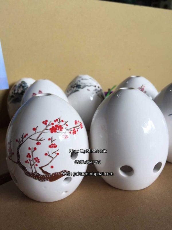 Shop huyên xun 8 lỗ giá rẻ - hàng sứ cao cấp họa tiết hoa văn phong phú chỉ có tại cửa hàng nhạc cụ Minh Phát