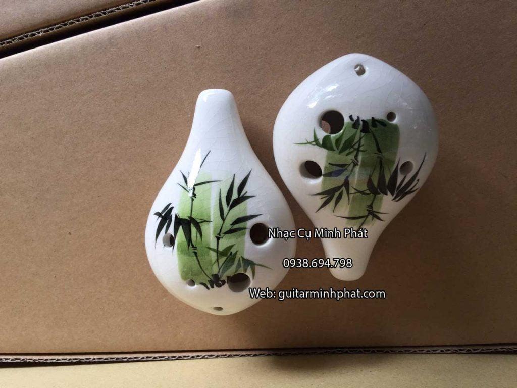 Bán kèn ocarina 6 lỗ hình lọ hoa chất liệu bằng sứ cao cấp - nhạc cụ Minh Phát