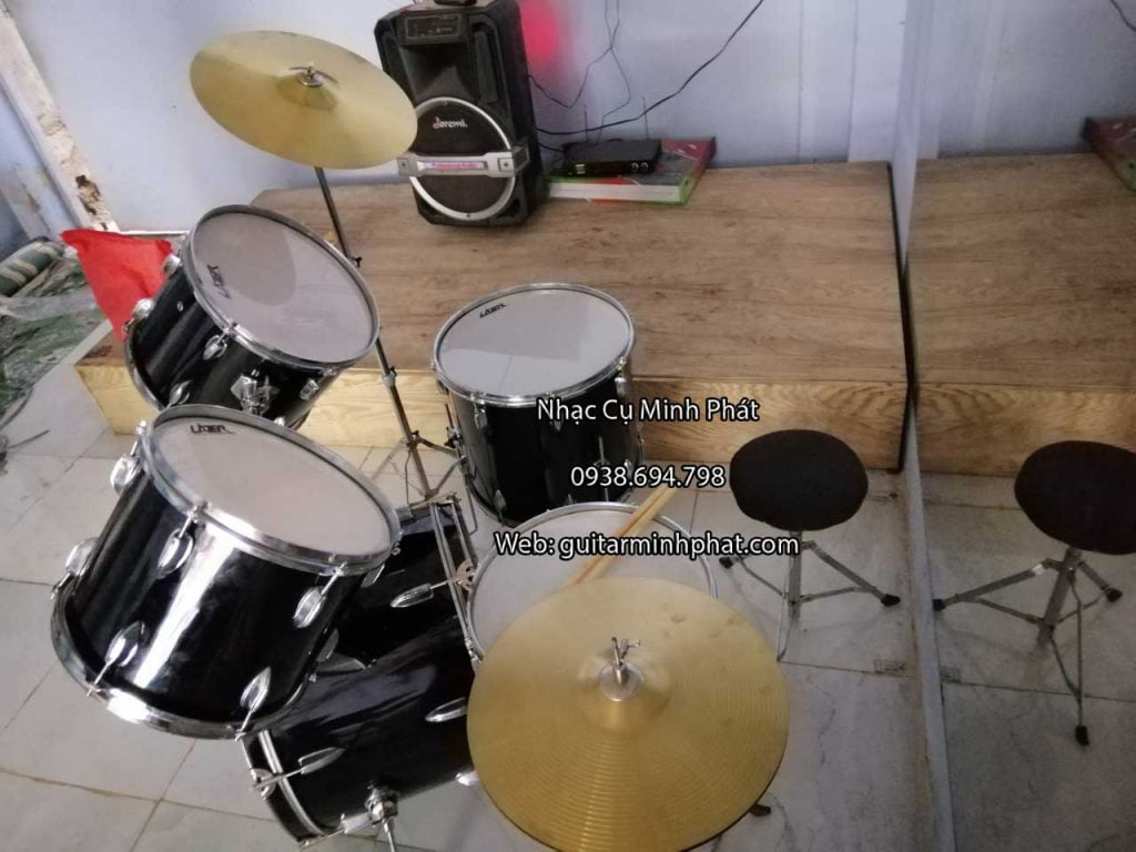 Mua bộ trống jazz giá rẻ - bộ trống jazz lazer gồm 5 trống , cymbal và hithat bằng đồng