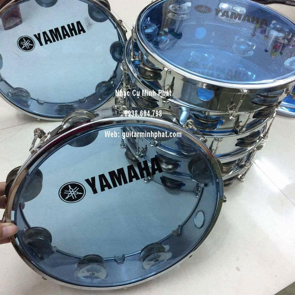 Trống gõ bo, trống lục lạc cầm tay, trống tambourine, trống lắc tay chơi nhạc chế - 3