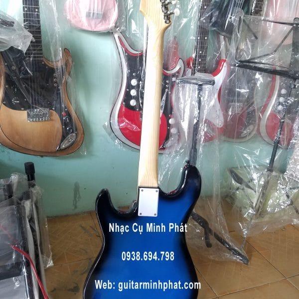 Đàn guitar điện giá rẻ tphcm - mẫu đàn guitar điện xanh viền đen