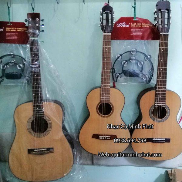 Đàn guitar đam size 3/4 làm từ gỗ hồng đào cho âm thanh vang và ấm