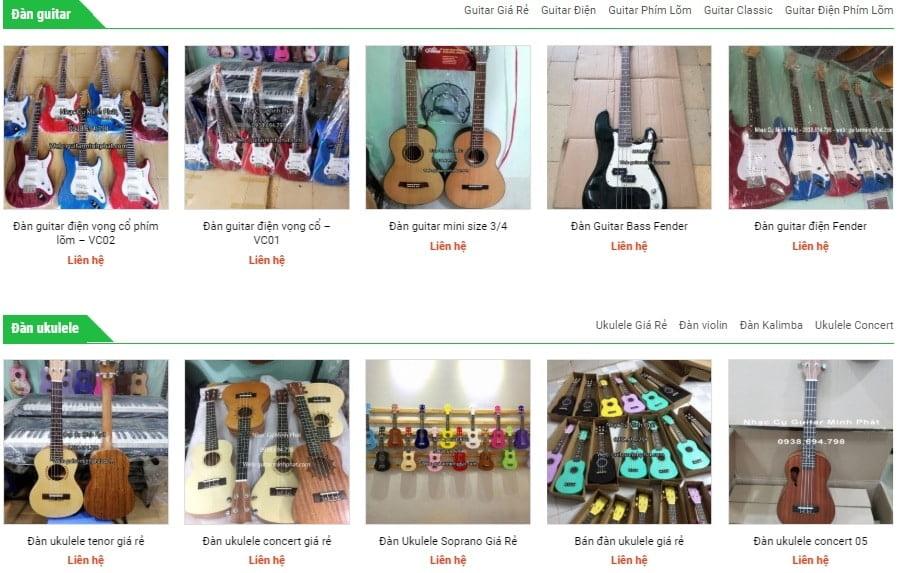 cửa hàng nhạc cụ tại quận 1