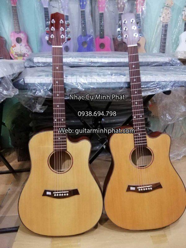 Đàn guitar gỗ maple - mặt top thông cho chất lượng âm thanh hay nhất