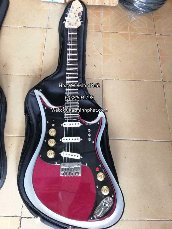 đàn guitar điện vọng cổ phím lõm có octau tiếng đôi, phím inox, có ty chỉnh cần đàn