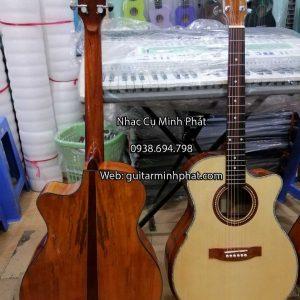 Đàn guitar acoustic gỗ poplar vát hông