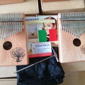 Đàn kalimba 17 key gỗ mahogany họa tiết cây đa