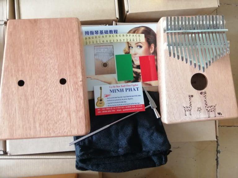 Mua đàn kalimba 17 phím họa tiết hươu gỗ full mahogany