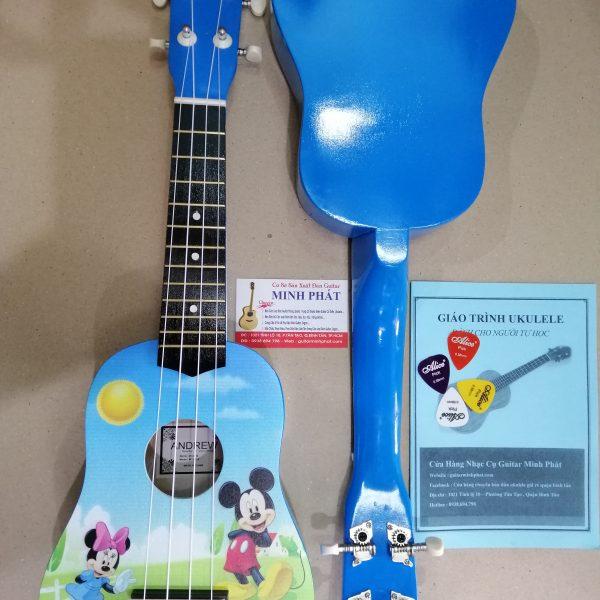 Đàn ukulele chuột mickey – chất liệu gỗ cho âm thanh vang và ấm – tặng kèm full phụ kiện khi mua đàn ukulele tại nhạc cụ minh phát quận bình tân tphcm