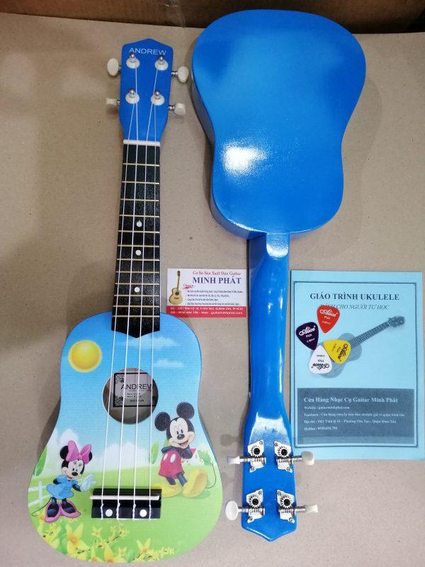 Đàn ukulele chuột mickey - chất liệu gỗ cho âm thanh vang và ấm - tặng kèm full phụ kiện khi mua đàn ukulele tại nhạc cụ minh phát quận bình tân tphcm