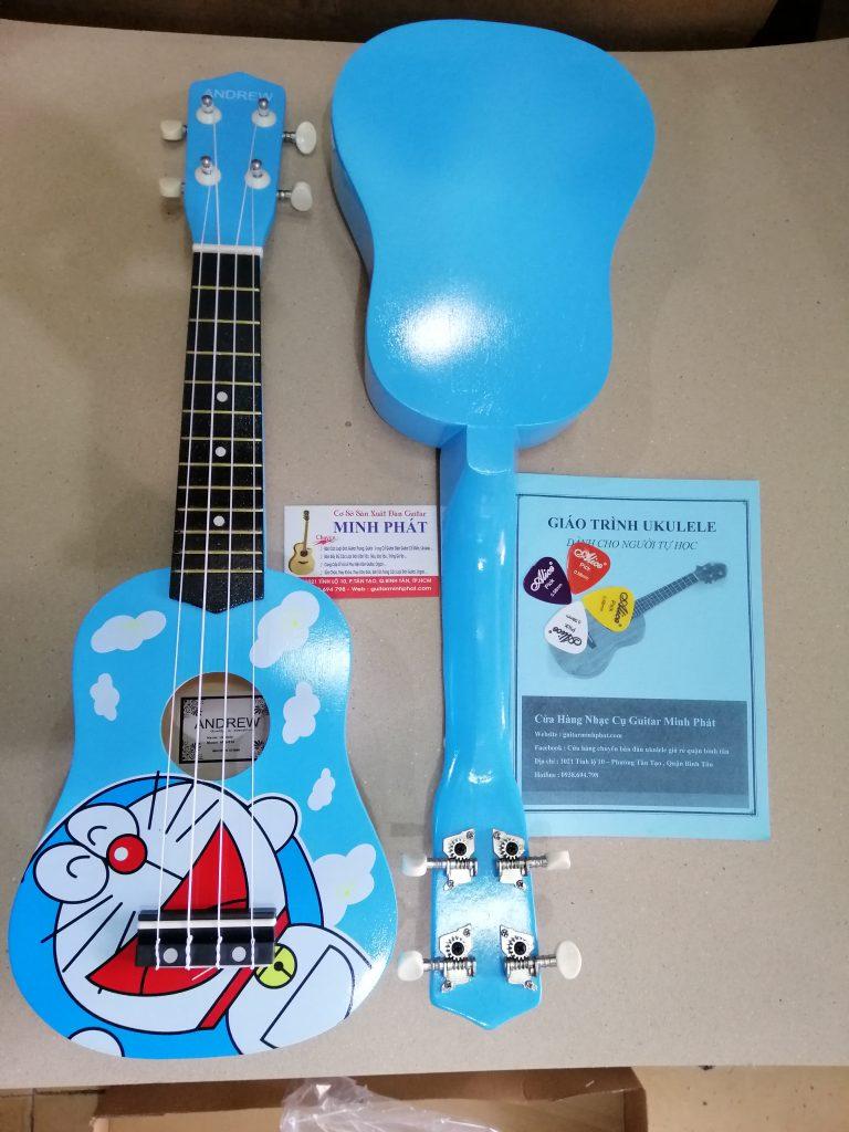 Đàn ukulele giá rẻ hình Đô rê mon tại tphcm