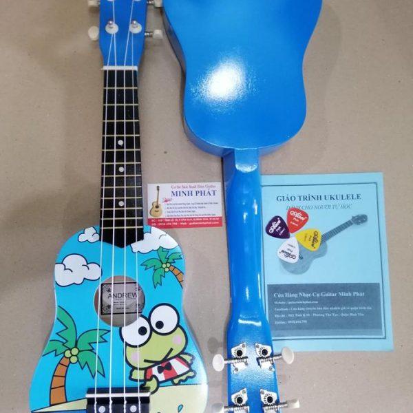 Đàn ukulele soprano hình con ếch xanh