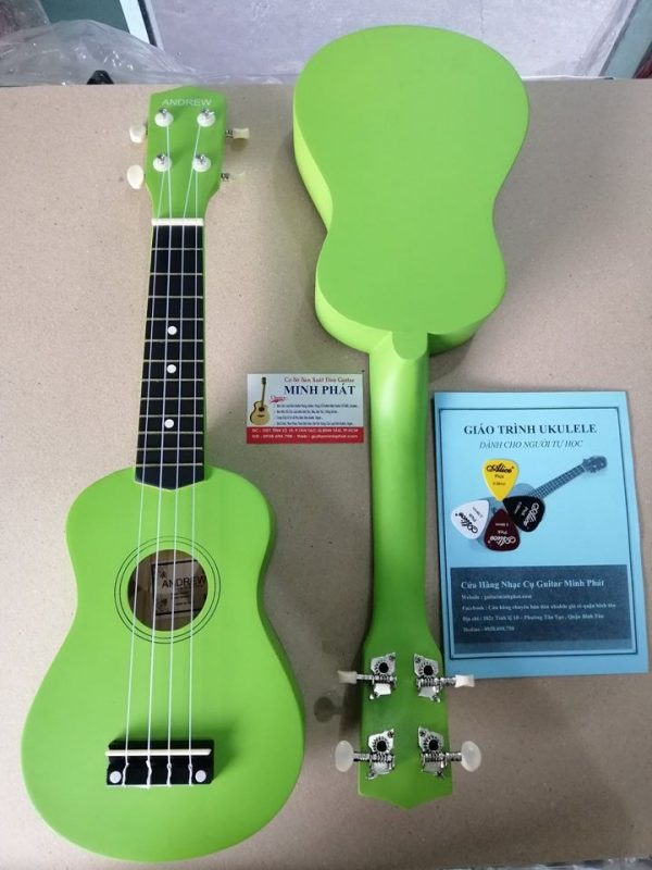 dan-ukulele-mau-xanh-la