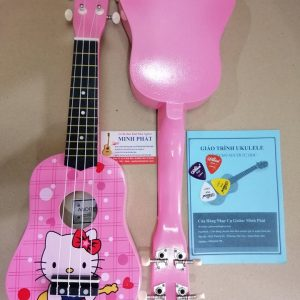 Đàn ukulele soprano đô rê mi màu hồng hello kitty tại nhạc cụ quận bình tân tphcm