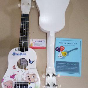Đàn ukulele soprano hinh con cừu màu trắng đang được bán tại cửa hàng nhạc cụ minh phát quận bình tân