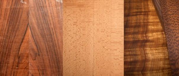 các loại gỗ thông thường của đàn ukulele
