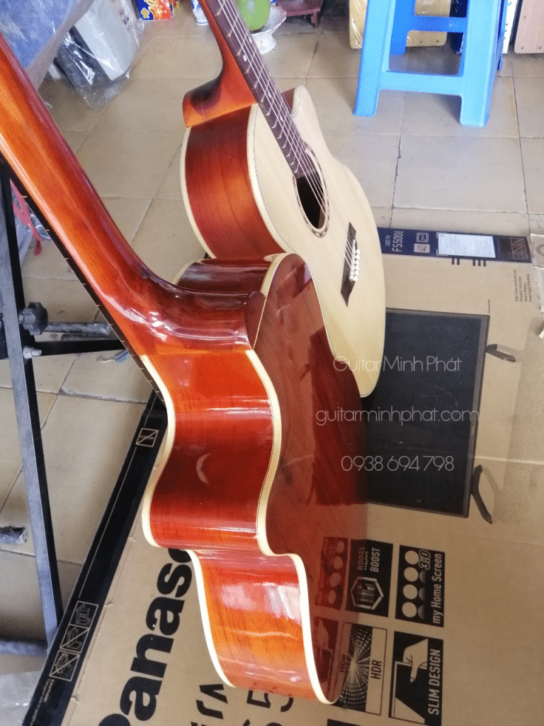 Đàn guitar acoustic hồng đào, - nhà làm đàn Minh Phát - Nhạc Cụ quận bình tân tphcm