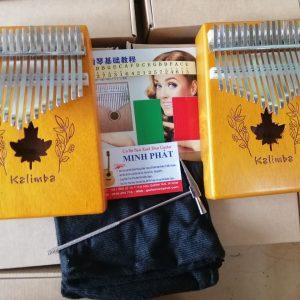 Kalimba 17 Key Mahogany Lá Phong