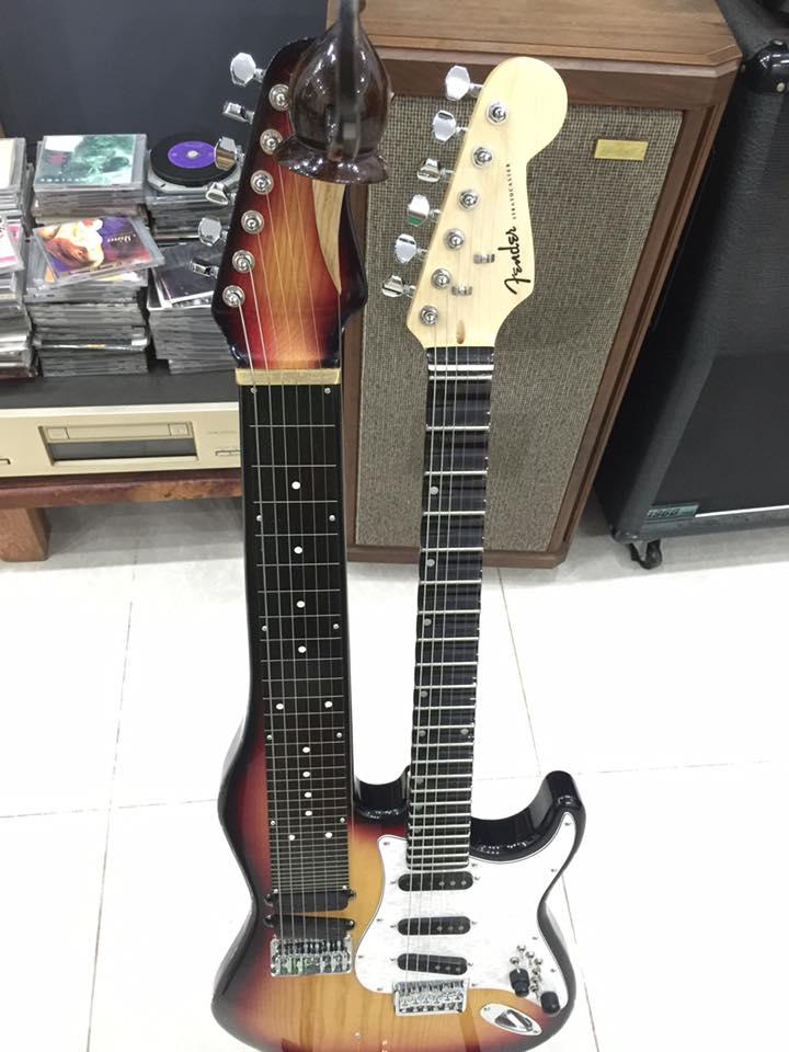 Cửa hàng bán đàn guitar điện, guitar phím lõm, đàn hạ uy di tại quận gò vấp tphcm
