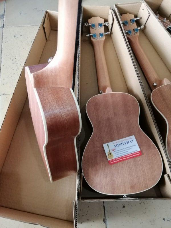 Đàn Ukulele Concert Gỗ Mahogany Thương Hiệu G-Danube - Mặt lưng full gỗ Mahogany- Ukulele Minh Phát