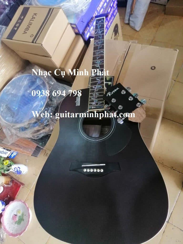 Đàn guitar rosen g11 gãy cần đàn