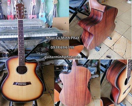 đàn guitar gỗ điệp nguyên tấm