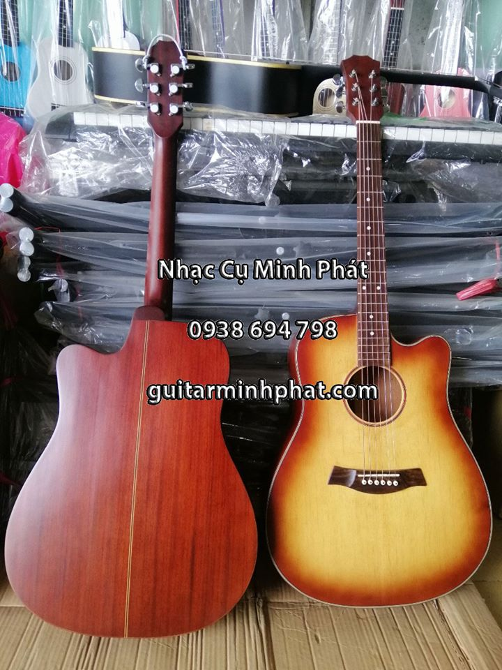 Guitar Acoustic Hồng Đào DHD23A - Nhạc Cụ Minh Phát