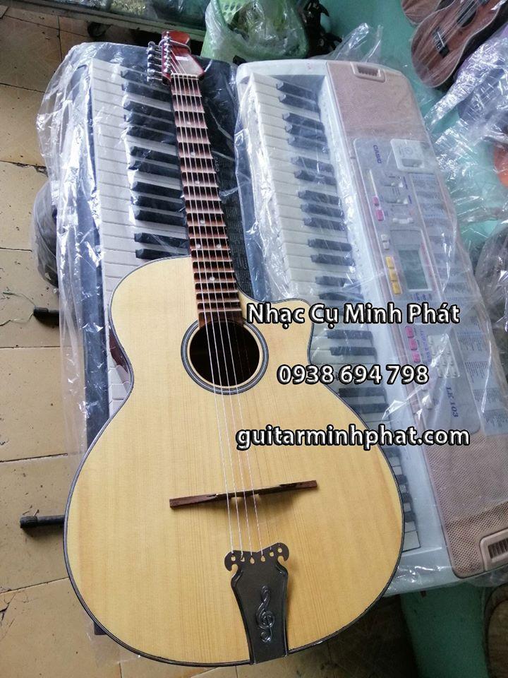 Cửa hàng bán đàn guitar thùng vọng cổ phím lõm gỗ thông chất lượng cho người mới tập chơi - liên hệ 0938 694 798