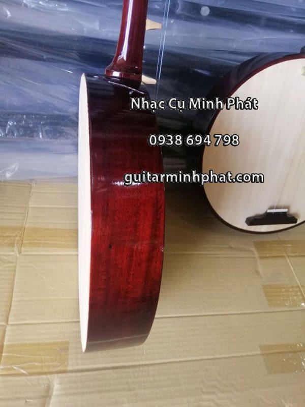 Đàn Kìm miền Nam được thiết kế với 8 phím đàn, được làm bằng gỗ thường, hoặc gỗ giáng hương, cẩm lai, mặt gỗ ngô đồng.
