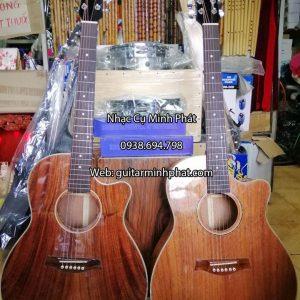 Đàn guitar acoustic full gỗ hồng đào kỹ cao cấp tại tphcm