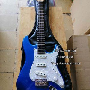 Mẫu đàn guitar điện fender phím lõm chơi cổ nhạc tân cổ màu xanh dương giá rẻ chất lượng uy tín tại tphcm