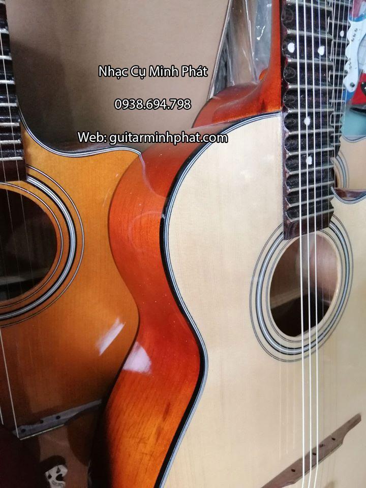 Bán Đàn Guitar Phím Lõm - Guitar Cổ Thùng 21 Phím Full Gỗ Giá Rẻ