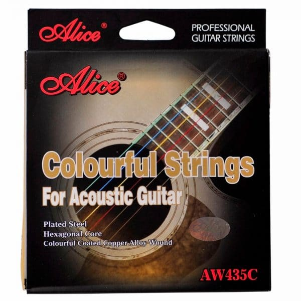 Dây màu guitar acoustic alice aw435c