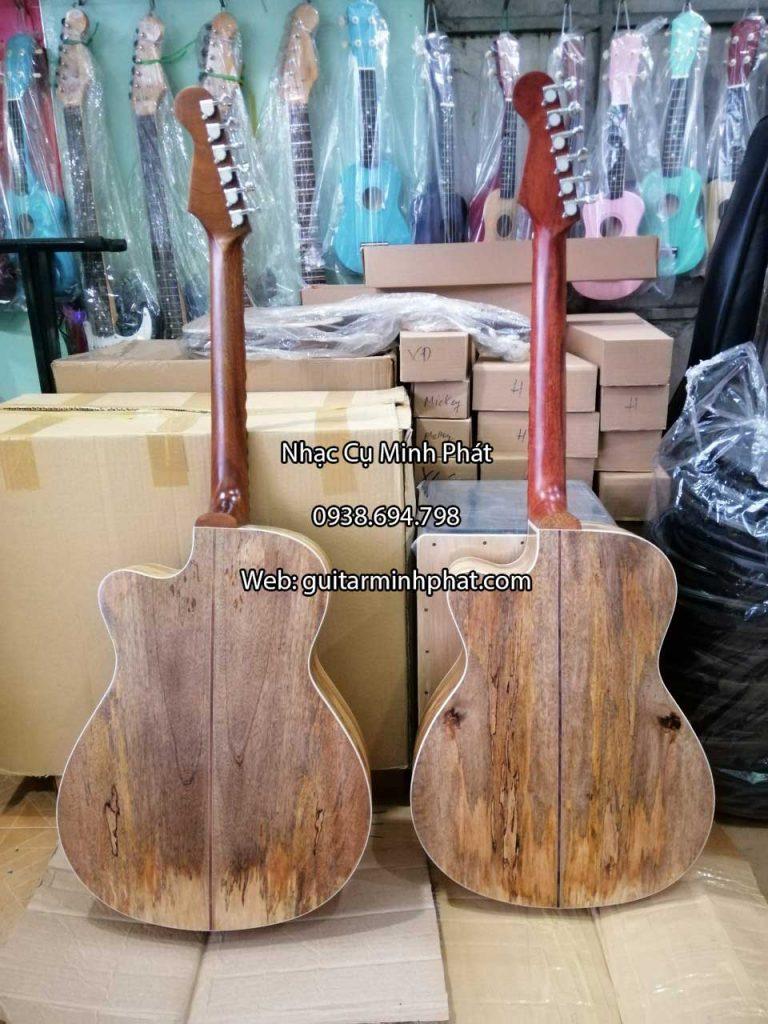 Đàn guitar phím lõm gỗ tràm, cần liền nguyên khối giá rẻ tại tphcm -nhạc cụ minh phát