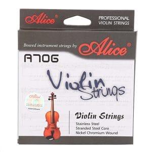 Bộ dây đàn violin alice a706 cao cấp chính hãng