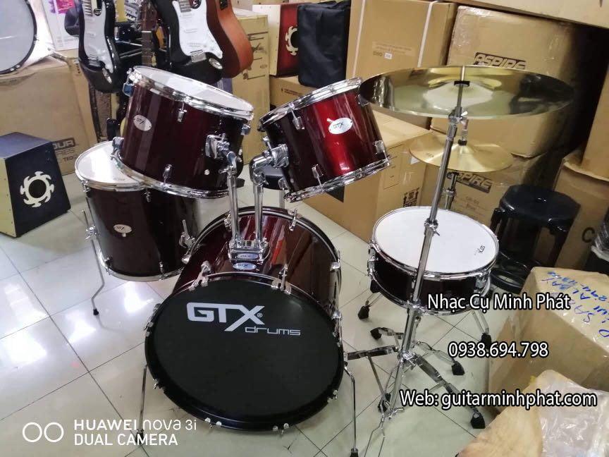 Bộ trống jazz GTX nhập khẩu chính hãng chất lượng tại Nhạc Cụ Minh Phát
