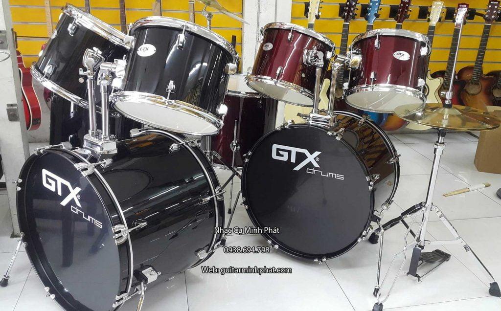 Bộ trống jazz gtx màu đỏ và đen