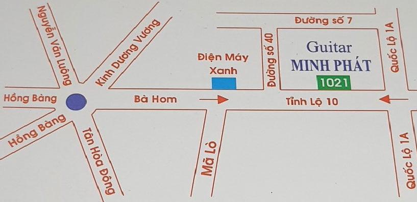 Bản đồ đường đi đến cửa hàng Nhạc Cụ Minh Phát quận Bình Tân TPHCM